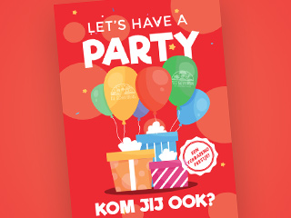 Let's have a party (Rood)